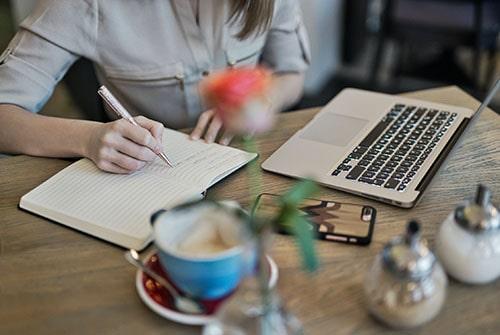 writing on desk-min